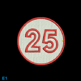 Race Numbers - White/Red +